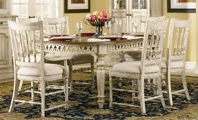 French Country Style Dining Room With A Stylish Hutch And With