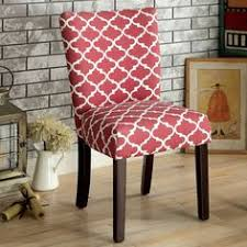 serendipity red quatrefoil clemmins accent chair set of two