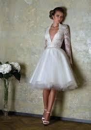 short wedding dresses with luxury details modwedding