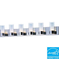 maxim lighting silo 6 light polished chrome bath vanity light