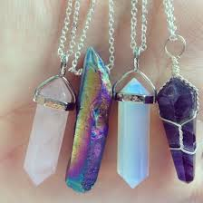 jewels quartz boho jewelry boho bohemian gemstone pendant birthstone crystal crystal quartz necklace rock crystal quartz