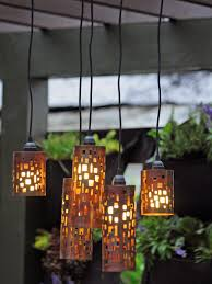 Romantic Patio Decors Added Pendant Hanging Lamps Also Green - Hanging exterior lights
