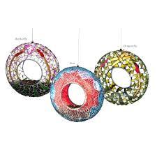 glass bird feeders vintage 25 inch cage mosaic designs