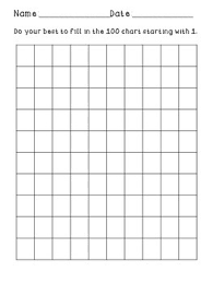 Blank Numbers Chart Worksheets Teaching Resources Tpt