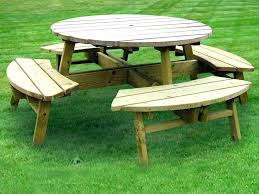 round wood picnic table round wooden patio tables round wood picnic table with round wooden patio