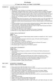 Audio Visual Technician Resume Sample Audio Visual Technician Resume Samples Velvet Jobs 1
