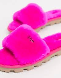 Купить слиперы Ярко-розовые <b>шлепанцы UGG</b> (Rock rose) для ...
