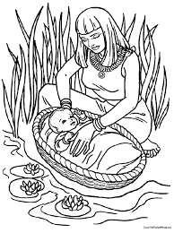Small Picture Week 7 Bible Story Baby Moses Coloring Page Bible School