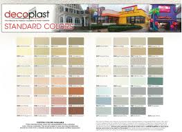 Adex Stucco Color Chart Products Decoplast