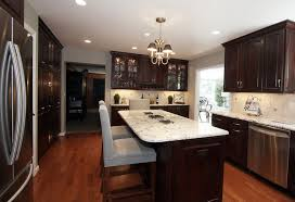Hardwood Floors In The Kitchen Delightful Dark Wood Kitchen Design Ideas With Hardwood Floors And