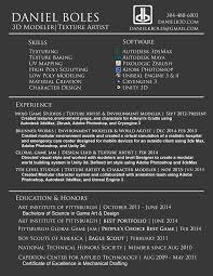 resume d artist resume 3d artist resume images