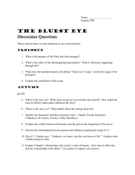 the bluest eye winter the bluest eye study guide