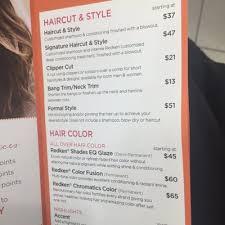 ulta salon s 2021 menu and s