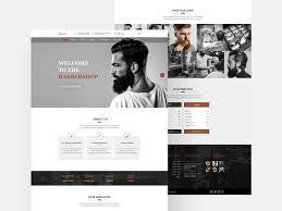 Barber Shop Website Barbershop Free Website Template Free Psd Template Psd Repo