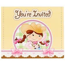 Cowgirl Birthday Decorations Cowgirl Birthday Invitations Gangcraftnet