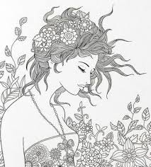 beautiful woman floating lace coloring book i aliexpress