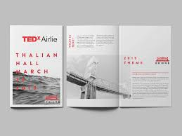How To Create An Event Program Booklet Tedxairlie Branding And Design Ebbing Branding Design