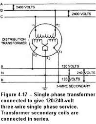 topic single phase transformer wiring Single Phase Transformer Wiring Connections figure 4 17 shows the proper connections for a single phase transformer to a three phase three wire ungrounded delta primary voltage system to obtain single phase transformer wiring diagram