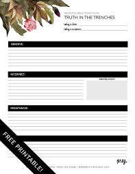 Free Printable Inductive Bible Study Worksheets Companion