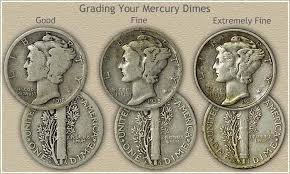 1938 Dime Value Chart Mercury Dime Values Are Moderate To High
