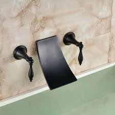 wall mount waterfall stylish waterfall bathroom faucet bronze dual handle wall mount waterfall bath tub sink faucet oil rubbed