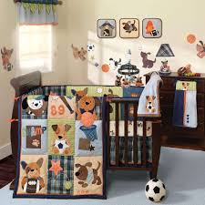 baby nursery comfortable modern boy baby crib sets decor with rond blue modern carpet also