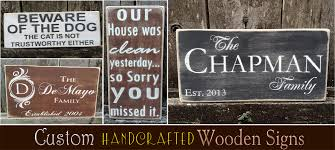 wooden signs personalized wood signs