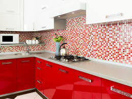 White And Red Kitchen Red Kitchens Design Tips Pictures Of Colorful Kitchens Hgtv