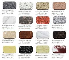 Acp Colour Chart Aluminum Composite Panel Color Chart Alusign Acp Panel