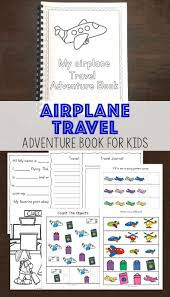 airplane travel hacks with kids with this free printable adventure book for kids perfect for toddlers and preers on long flights