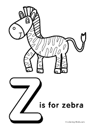 Small Picture Letter Z coloring pages alphabet coloring pages Z letter words