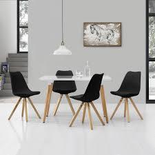 Esstisch Mit 4 Stühlen Weißgrau 120x70cm Tisch Stühle Essgruppe
