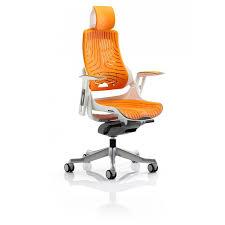 storm mk2 designer orange elastane ergonomic office chair
