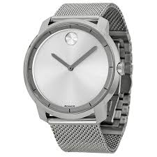movado bold silver dial stainless steel mesh mens watch 3600260 movado bold silver dial stainless steel mesh mens watch 3600260 walmart com