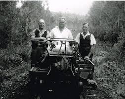 Photograph, Albert Denning, Colac track gang near Kawarren, c.1950