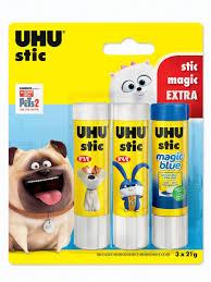 <b>UHU</b> / <b>Клей</b>-карандаш <b>UHU STIC</b> 8,2 г 2 шт + MAGIC 8,2 г 1 шт ...