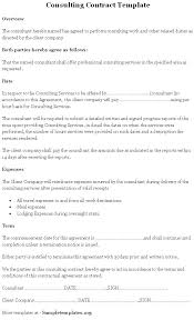 Consulting Contract Template Free Fresh Consultancy Agreement ...