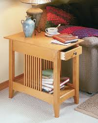 Here's a rustic coffee table plan that is built out of solid wood and looks great with any style of decor you have. Craftsman End Table Woodworking Project Woodsmith Plans