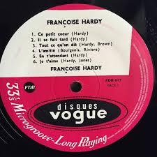 Je ferai tout simplement comme toi. Francoise Hardy L Amitie Vinyl Pussycat Records