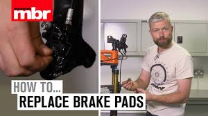 How To Replace <b>Brake Pads</b>   <b>Mountain Bike</b> Rider - YouTube