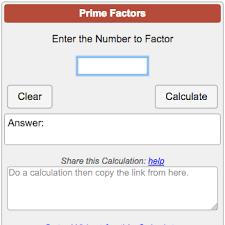 Prime Chart To 1000 Prime Factorization Calculator