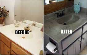 bathroom countertop diy concrete vanity for 20 our bathrooms are full of cultured
