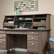 sauder shoal creek executive desk with hutch in diamond ash for remodel 4