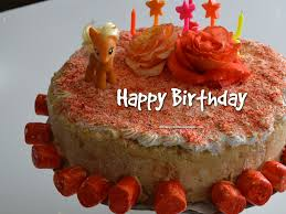 happy birthday cake images and pictures free with red pie cake cute unicorn and roses