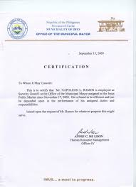 Sample Letter Of Request For Certificate Of Employment For Visa