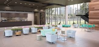 building office furniture. flock office furniture in open setting building