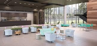 office desking. flock office furniture in open setting desking