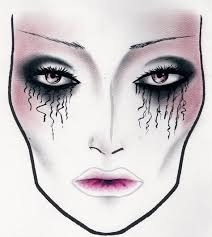 Halloween Facechart By Luciana Allievi In 2019 Makeup Face
