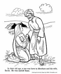 Abraham And Sarah Old Testament Coloring Pages Bible Printables