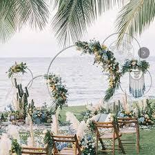 Wedding Photo Background 2019 Wedding Decoration Background Arch Round Wrought Iron Shelf Decorative Props Diy Wreath Party Background Shelf Flower With Frame From Hongxullc